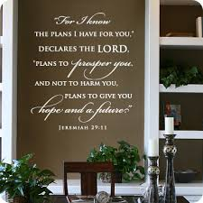 cool wall stickers home office wall. For I Know The Plans Have You - Jeremiah 29:11 Cool Wall Stickers Home Office