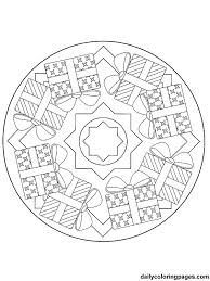 Small Picture Detailed Christmas Coloring Pages mandala christmas ornaments