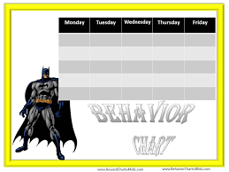 Batman Behavior Chart Batman Behavior Chart Behaviour Chart Kids Schedule