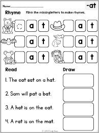Worksheets. Rhyming Sentence. Opossumsoft Worksheets and Printables