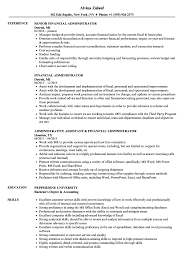 Budget Administrator Sample Resume Financial Administrator Resume Samples Velvet Jobs 5