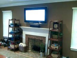 mounting a tv above fireplace mounting a over a fireplace hang over fireplace new mount on