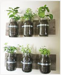 Mason Jar Wall Planter Learn how to create an adorable indoor or outdoor  wall planter. These jars would look so cute on a kitchen wall filled with  herbs!
