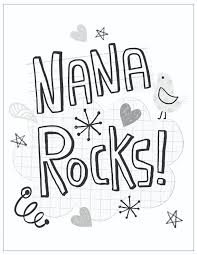 mother s day free printable coloring pages nana rocks