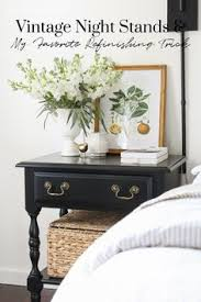 Diy modern vintage furniture makeover Metallic Our Vintage Nightstands My Favorite Furniture Refinishing Trick Pinterest 597 Best Furniture Makeovers Images In 2019 Furniture Makeover