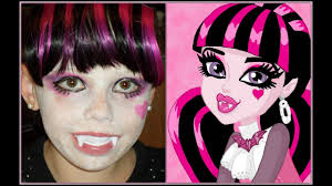 draculaura monster high makeup tutorial day 21