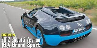 The bugatti veyron 16.4 grand sport vitesse, the roadster version of the veyron 16.4 super sport, is also a superlative supercar. 2012 Bugatti Veyron 16 4 Grand Sport Vitesse Review Specs And Photos Roadandtrack Com