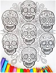 Small Picture Sugar Skull Coloring Pages Art is Fun