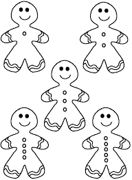 Gingerbread Man Template Coloring Pages Clip Art Library