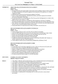 Management Resume Health Information Management Resume Samples Velvet Jobs 16