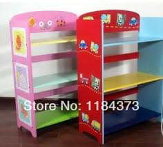 Boys and girls three-shelf bookcase bookcase Kids Furniture tables  multicolor