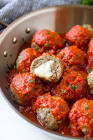 meatball surprise  cheddar cheese filled meatballs in gravy