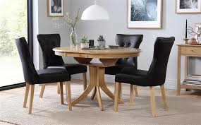 gallery hudson round extending dining table with 4 chairs