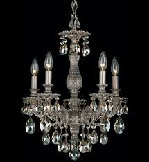 schonbek 5674 48s milano classic 5 light antique silver clear swarovski elements undefined