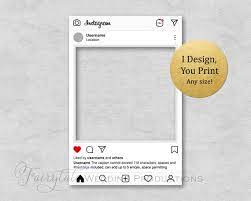 58,270+ customizable design templates for 'instagram'. Personalized Instagram Frame Poster Board Prop For Birthdays Etsy