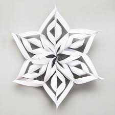 How To Make A 3d Snowflake 3d Paper Snowflake Kids Crafts Fun Craft Ideas