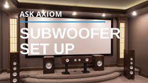 Subwoofer Controls: Phase, Crossover, and Trigger Switch - YouTube