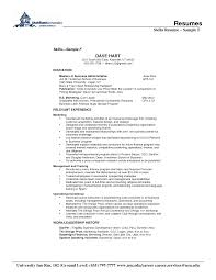 Cover Letter Skills And Abilities In Resume Sample Skills And