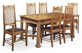 an arts crafts inlaid oak dining room suite circa 1910 christie 39 s arts and crafts dining room furniture