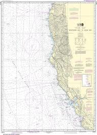 Coos Bay Tide Chart Noaa Nautical Chart 18010 Monterey Bay To Coos Bay