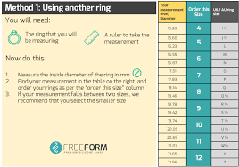 Ring Size Chart For Men Actual Size Silicone Rings Sizing Guide