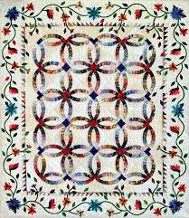 Dark Color Quilt Patterns | Garden for my Wedding Ring | Applique ... & Dark Color Quilt Patterns | Garden for my Wedding Ring Adamdwight.com