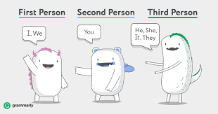 First Second And Third Person Singular And Plural Chart First Second And Third Person Ways Of Describing Points Of