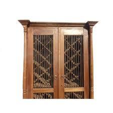 rustic spanish style furniture. Teak Wood Rustic Spanish Style Wine Rack Cabinet - Image 6 Of 11 Furniture T