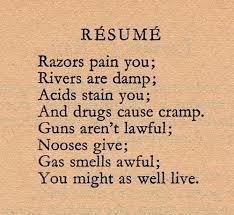 Dorothy Parker Resume | Philosophy, Witticisms | Pinterest in Resume  Dorothy Parker