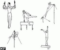 Kleurplaat Artistieke Gymnastiek Oefeningen Kleurplaten
