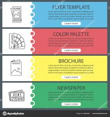 Newspaper Flyer Template Printing Web Banner Templates Set Flyer Template Color