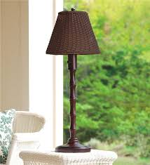 outdoor table lighting ideas. Main Image For All-Weather Outdoor Rattan Wicker Table Lamp Lighting Ideas