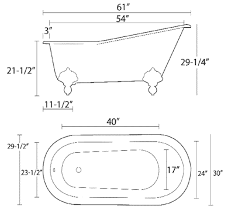 dimensions 61 x 30