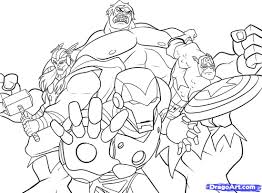 Small Picture printable Marvels The Avengers cartoon coloring pages for kids