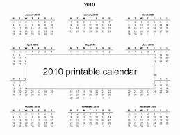 Free Printable 2010 Calendar