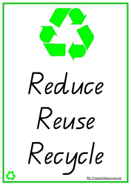 reduce reuse recycle vocabulary words