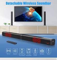 Loa Tivi soundbar kết nối Bluetooth 4.0 - Âm thanh 3D giả lập 5.1 A8 Tặng 1  tai nghe thể thao cực chất