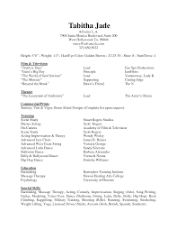 Actors Resume Acting Resume Special Skills Examples Examples Of Resumes 96