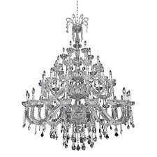 allegri by kalco clovio chrome 50 light 60 inch wide chandelier with firenze clear crystal