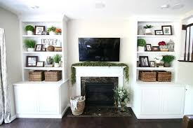 built in bookcases around fireplace built ins