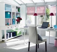 perfect home office. Home Office Decorating Ideas With White Interior Theme Color Perfect