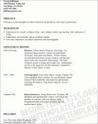 sample dance resumes dance instructor resume samples visualcv ...