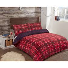 326820 326821 326822 brushed cotton check duvet red