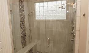Glass Block Window In Shower master bathroom remodel creating a spalike atmosphere 4237 by xevi.us