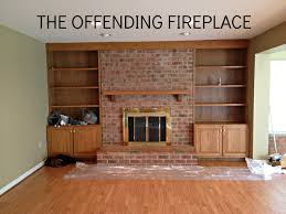 brick fireplace makeovers with fireplace mantel ideas for brick fireplace and bookshelves also wood flooring with interior paint color for home remodeling