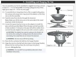 hampton bay ceiling fan instructions hampton bay fan installation instructions bay ceiling fan support top bay