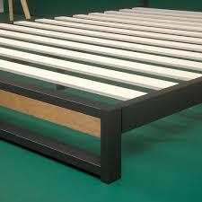 ironline low profile platform bed frame  zinus