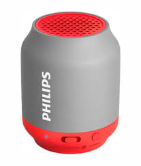 speakers bluetooth. philips bt50g/00 bluetooth speaker - red \u0026 grey speakers