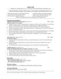 Sample Mechanical Engineer Resume Skills Inspirationa Sample
