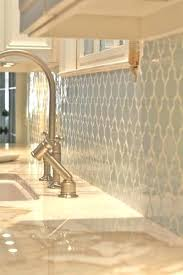 tile kitchen countertops white cabinets. Moroccan Tile Kitchen Backsplash Pale Blue With White Grout Against Cabinets And Cream Moorish Countertops